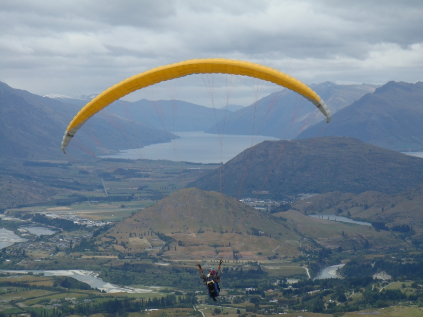 Paragliding on Coronet Peak