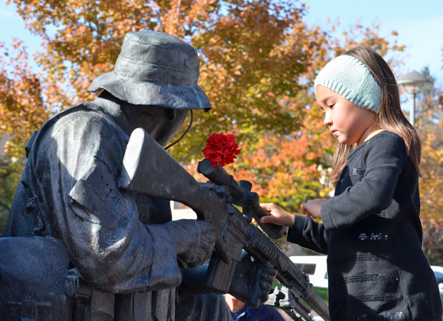 Veterans Day, Cupertino -- KQED News Pix Best Images of 2012